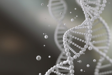 Dna structure abstract for Science or medical molecule background, 3d illustration.