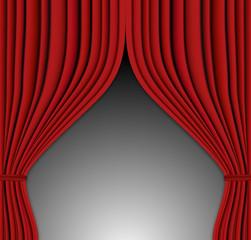 Arrière-plan d'affiche avec rideaux rouges pour spectacle de cabaret et théâtre