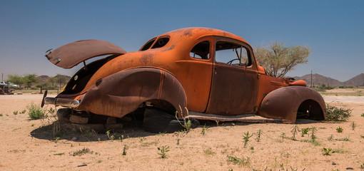 Foto op Plexiglas Route 66 Old car on Route 66