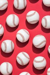 Overhead Pattern Of Many Baseballs