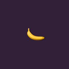 Banana on Purple Background