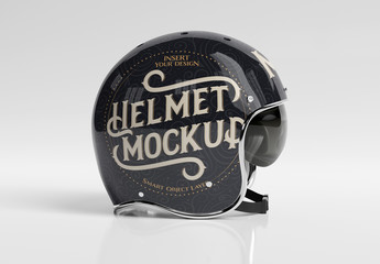 Motorcycle Helmet Mockup Isolated on White