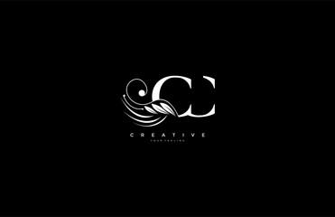 Initial CC letter luxury beauty flourishes ornament monogram logo