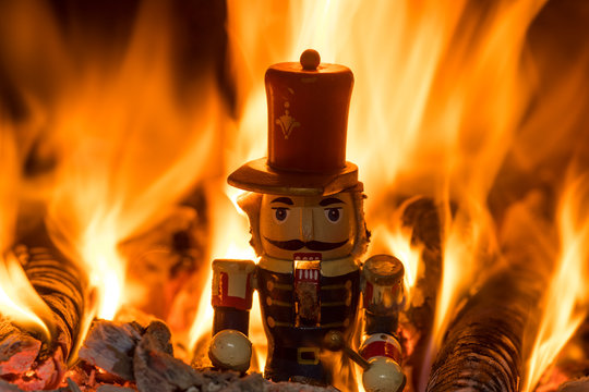 The Steadfast Tin Soldier on fire, The Nutcracker, fairy tales by Hans Christian Andersen