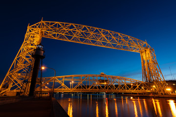 Duluth MN Lift Bridge Built 1905
