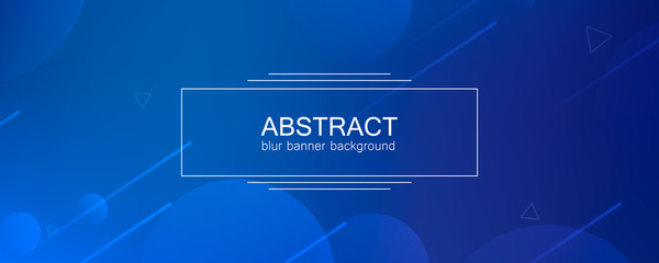 Abstract banner with gradient shapes  Wall mural