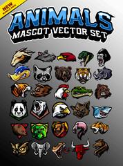 animal head mascot - fototapety na wymiar