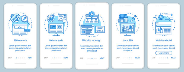 Obraz Web consulting onboarding mobile app page screen vector template - fototapety do salonu