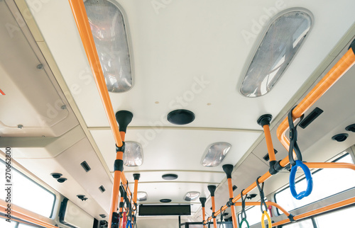 interior light and air conditioner design of modern electric bus in