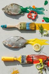 fish,colorful,paint,art,