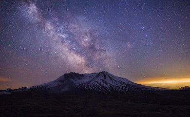 Mt St Helens Galactic Core Fotomurales
