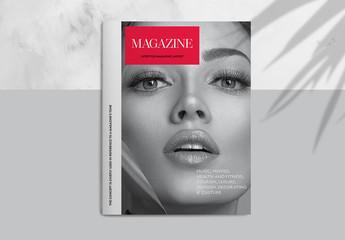 Lifestyle Magazine Layout with Rounded Square Photo Elements