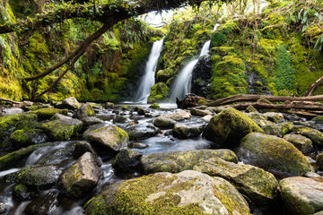 Venford Waterfalls in Dartmoor National Park - Devon, England