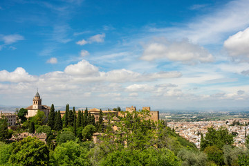 Nazrid Palaces of the Alhambra and the City - Granada, Spain