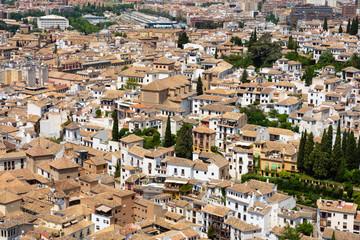 View of Albaicín from the Alcazaba - Granada, Spain