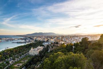City View from Mirador de Gibralfaro - Málaga, Spain