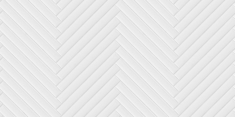 Soft convex wall panels, in white leather. Herringbone shape. High quality seamless realistic texture. Fotoväggar