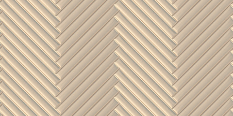 Soft convex wall panels, in pearl leather. Herringbone shape. High quality seamless realistic texture.