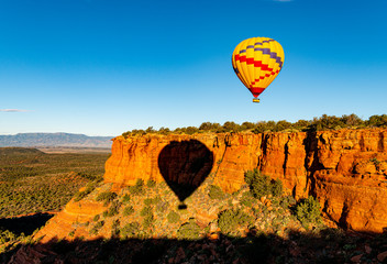 Printed roller blinds Balloon Hot air balloon ride over the bueatiful red rock cliffs of Sedona Arizona