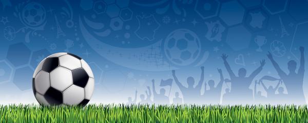 FOND BLEU FOOTBALL FRANÇAIS