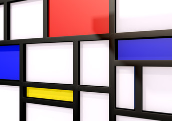 Abstract background with modernist wall or shelves