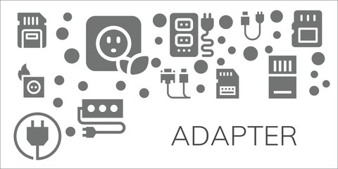 adapter icon set
