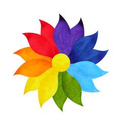 color chakra mandala symbol concept, watercolor painting icon, illustration design sign hand drawing