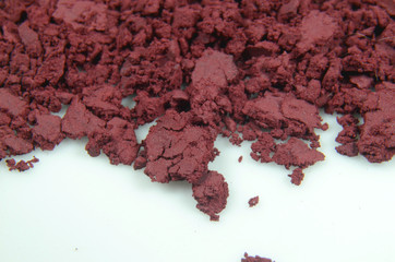 Red Phosphorous powder in closeup.