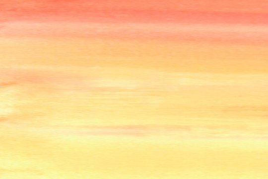 Hand drawn watercolor background of red, orange and yellow colors. Sunset bakground