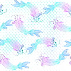 Seamless pattern with fishes. Vector illustration, EPS 10.