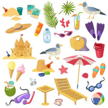 Summer beach items set