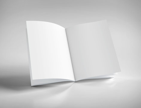 Mock up of an open magazine - 3d rendering