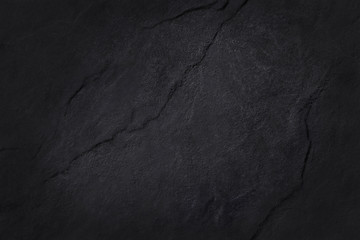 Dark grey black slate texture in natural pattern with high resolution for background and design art work. Black stone wall. Fototapete