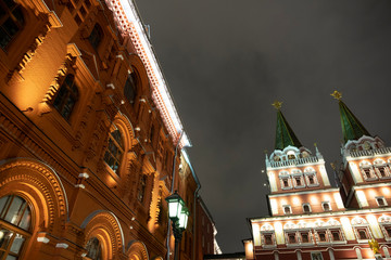 Moscow. Red Square Night Russia