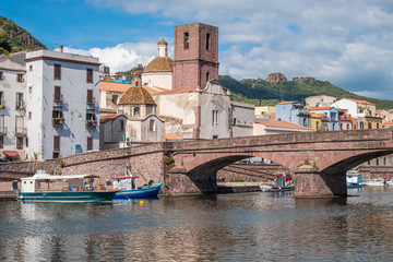 Bosa, province of Oristano, a picturesque village of ancient origins, Sardinia, Italy.