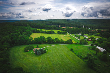 Aerial of Bloomsbury New Jersey Wall mural