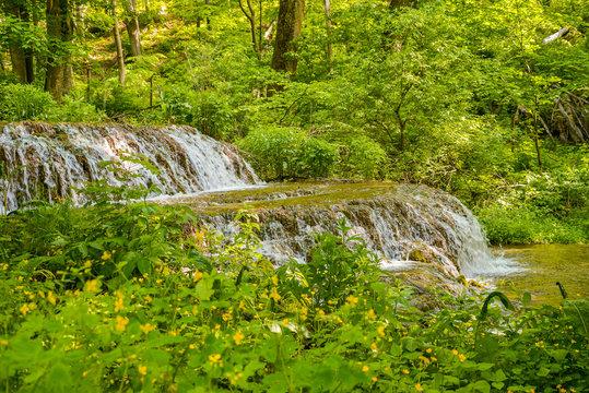 beautiful waterfall at nature in Szilvásvárad Hungary