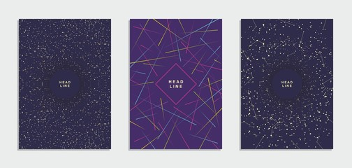 Abstract geometric technological flyer, brochure, corporate identity.