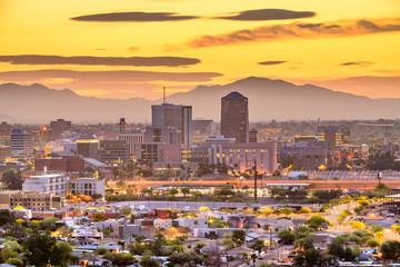 Fototapete - Tucson, Arizona, USA Skyline