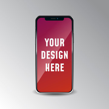 Mobile phone, smartphone, iphone mockup.