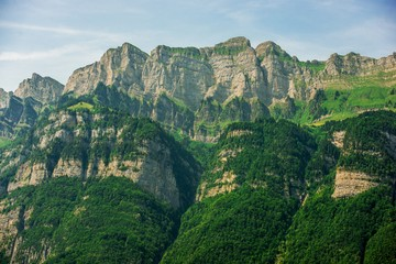 Wall Mural - Swiss Mountain Landscape
