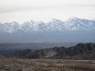 View from Manzanares Viewpoint in Leoncito National Park, San Juan Argentina