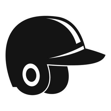 Baseball helmet icon. Simple illustration of baseball helmet vector icon for web design isolated on white background