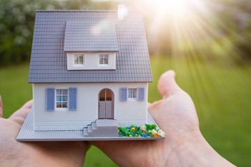 Haus bauen familie auf dem Land kredit Bau Antrag