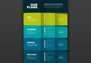 Product Plan Features with Colorful Layers Layout