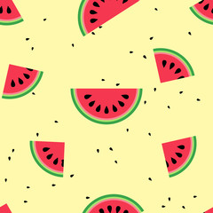 watermelon with seamless pattern design