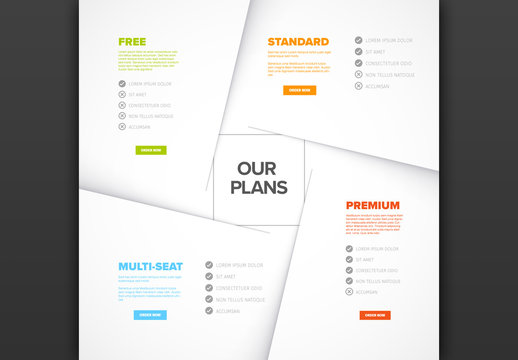 Product Features Layered Element Graphic Layout