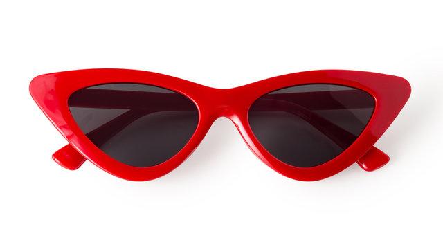 Cat eye sunglasses isolated on white