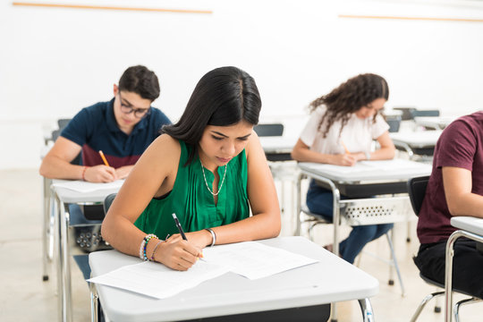 You Can See She's Ready To Write The Test