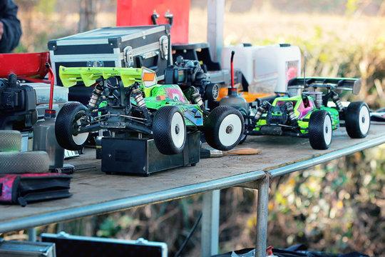 rc racing cars during rally race